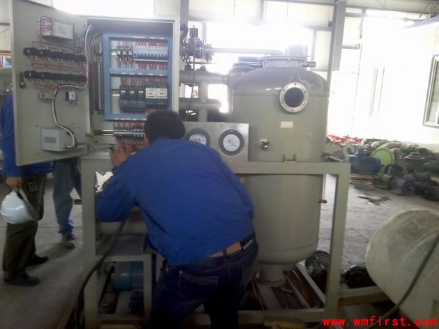 万美机电有限公司在安装调试滤油机
