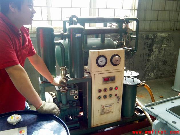 ZL-30滤油机试运行